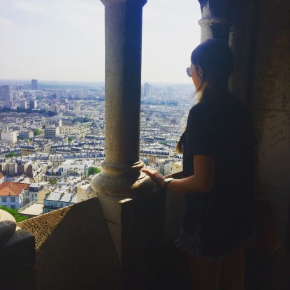 An amazing view I found of Paris while exploring!